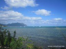 Kane'ohe Bay vom He'eia State Park auf O'ahu