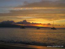Sonnenuntergang in Ka'anapali auf Maui