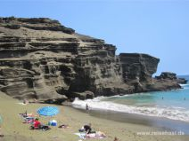 Green Sand Beach auf Big Island