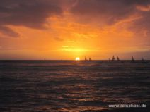 Sonnenuntergang in Waikiki auf O'ahu