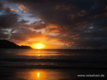 Sonnenuntergang in Hanalei auf Kauai