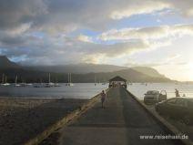 Steg in der Hanalei Bay au fKauai