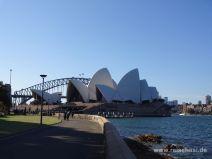 Zu Fuß zum Opernhaus in Sydney