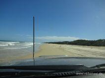 Auf Fraser Island lassen wir uns fahren