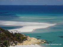 Aussicht auf die weiße Sandbank