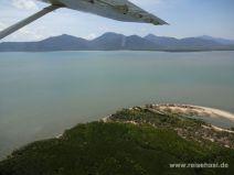 Im Flugzeug Richtung Great Barrier Reef