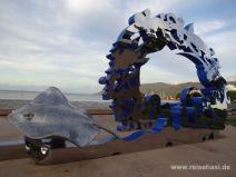 Skulptur auf der Promenade in Cairns