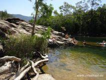 Baden im Big Crystal Creek