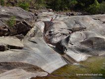Steinrutschen am Rockslides Walking Track