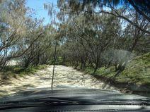 Straße auf Fraser Island