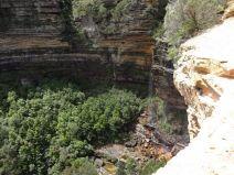 Wentworth Falls mit wenig Wasser