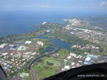 Hilo auf Bigisland von oben
