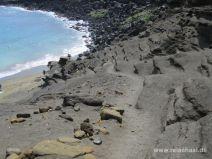Abstieg zum Green Sand Beach auf Big Island