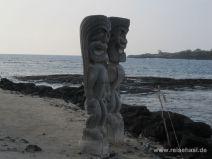 Tikis in Puuhonua o Honaunau auf Big Island