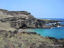 Bucht des Green Sand Beach auf Big Island