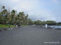 Black Sand Beach auf Big Island