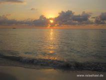 Sonnenuntergang in Negril in Jamaika