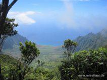 Ausblick auf das Kalalau Valley auf Kauai