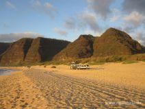 Polihale Beach mit Pali Küste auf Kauai