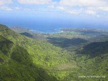 Aussicht auf die Hanalei Bay auf Kauai