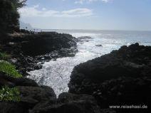Beim Queen's Bath in Princeville auf Kauai