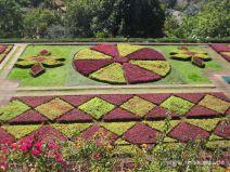 Gartenkunst im botanischen Garten in Funchal