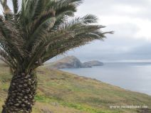 Aussicht vom Parkplatz auf die Ostspitze Madeiras