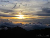 Sonnenaufgang am Haleakala auf Maui