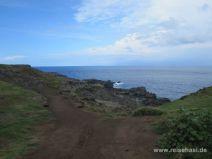 Weg zum Nakalele Blowhole auf Maui
