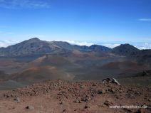Haleakala Krater mit Vulkankegeln