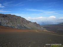 Bunte Farben im Krater