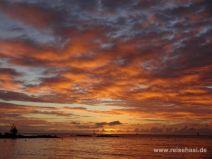 Sonnenuntergang in Grand Baie