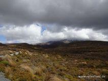 Kalter Sturm und Wolken im Tongariro Nationalpark