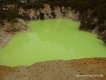 Giftig grüner Säuresee in Wai-O-Tapu