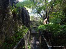 Weg über Brücke