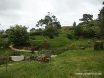 Grünes hügeliges Hobbiton