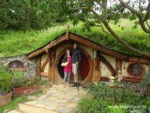Geöffnete Tür in Hobbiton
