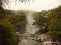 Dampf in Wai-O-Tapu