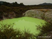 Giftig grüner See