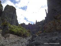 Vielfältige Steinskulpturen der Putangirua Pinnacles