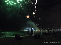 Feuerwerk in Waikiki auf O'ahu