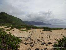 Blick auf die südliche Westküste Oahus
