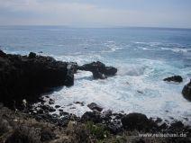 Küste am Weg von Süden her Richtung Kaena Point