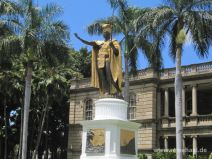 King Kamehamea Statue in Honolulu auf Oahu