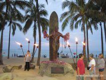 Statue des Dukes in Waikiki auf O'ahu