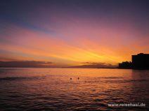 Sonnenuntergang in Waikiki auf Oahu