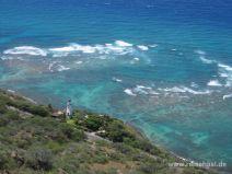 Aussicht auf den Diamond Head Leuchtturm auf Oahu