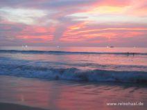 Sonnenuntergang in Karon auf Phuket