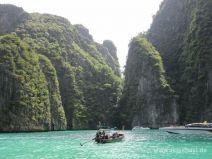 Kalksteinfelsen auf Phi Phi Leh