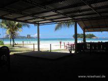 Ausblick vom Hotel Berjaya auf die Côte d'Or auf Praslin